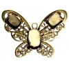 Filigree Pendant Setting32x42mm Butterfly Antique Brass